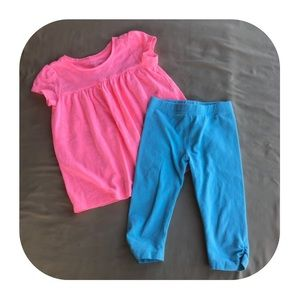 GAP top & Old Navy leggings Girls 3T